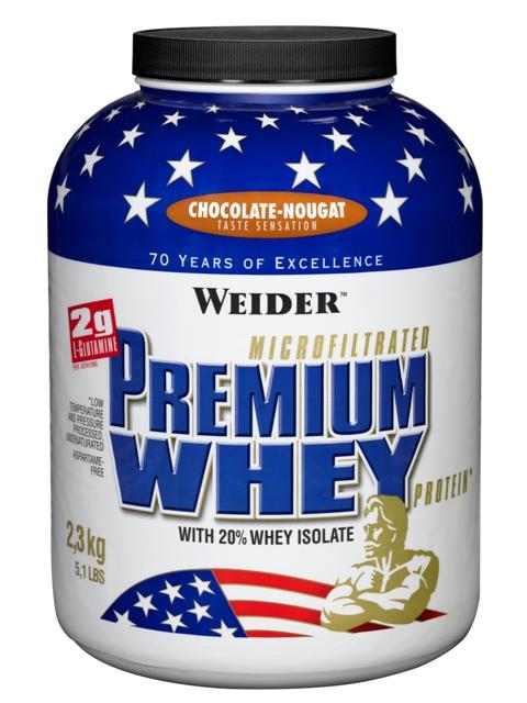 Weider Premium Whey Protein, 2300g Chocolate - Nougat