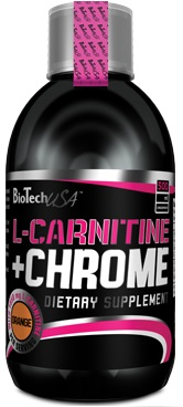 BioTech USA L-Carnitine 35.000mg + Chrome, 500ml