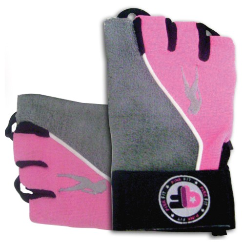 BioTech USA Lady Pink Fit Gloves, Grau-Pink