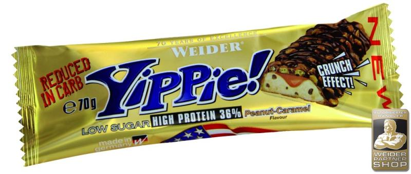 Weider YIPPIE, 1 Riegel, 70g Cookies Double Chocolate