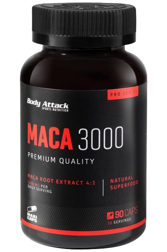 Body Attack Maca 3000, 90 Kaps.