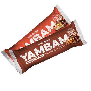 Body Attack Yambam Bar, 80g Chunchy Chocolate Caramel