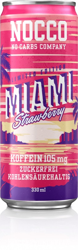 Nocco Bcaa, 330ml Miami Strawberry