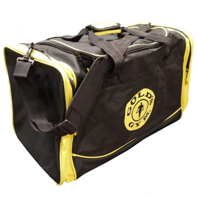 Golds Gym Holdall Bag, Black/Yellow