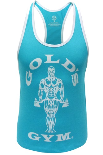 Golds Gym Ladies Fitted Stringer, Turquoise