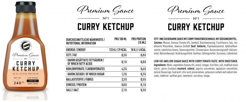 GOT7 Nutrition Premium Sauce, 240ml Curry Ketchup