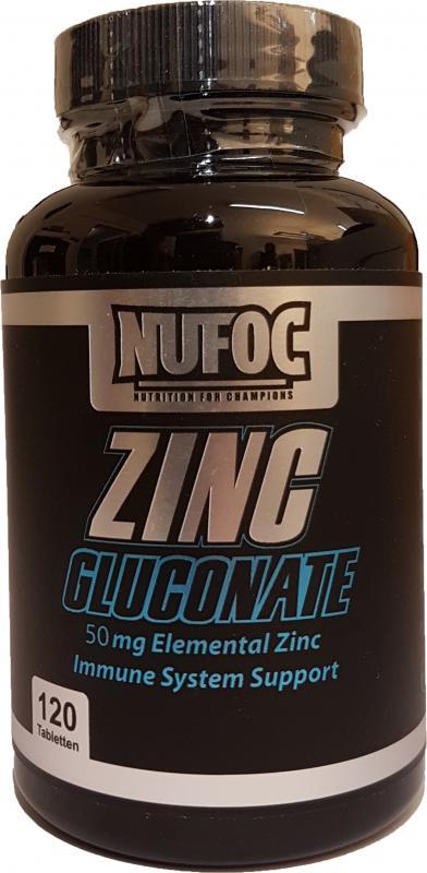 Nufoc Zinc Gluconate 50mg, 120 Tabl.