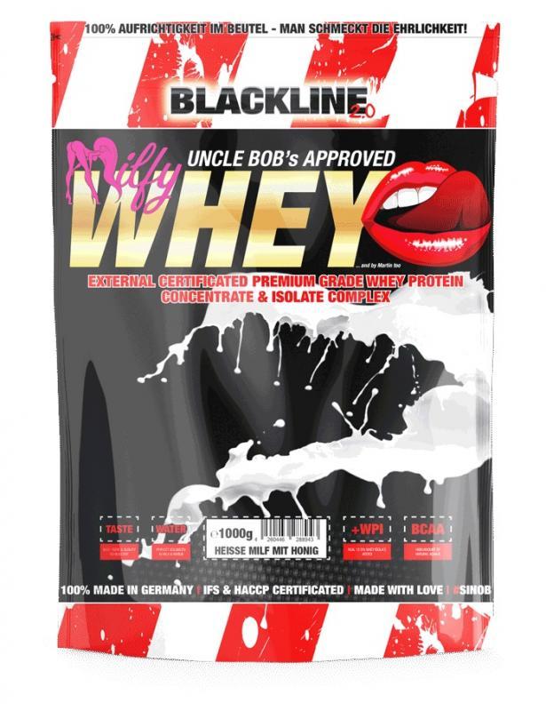 BlackLine 2.0 Milfy Whey, 1000g Heisse Milf Mit Honig