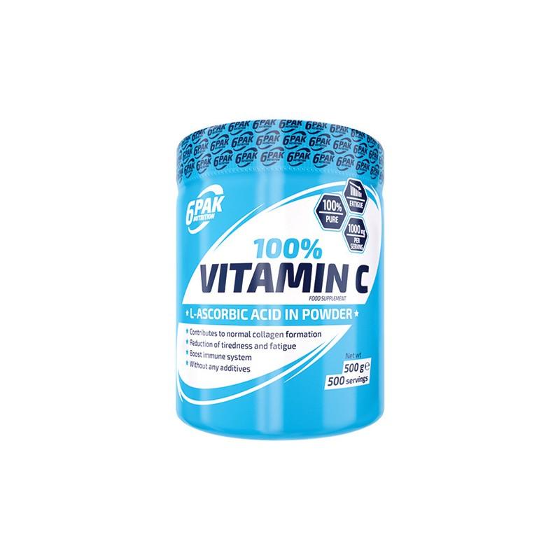 6 Pak Nutrition Vitamin C, 500g