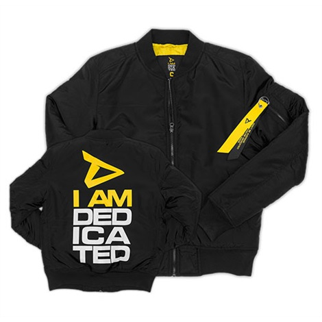 Dedicated Bomber Jacke, Black / Yellow