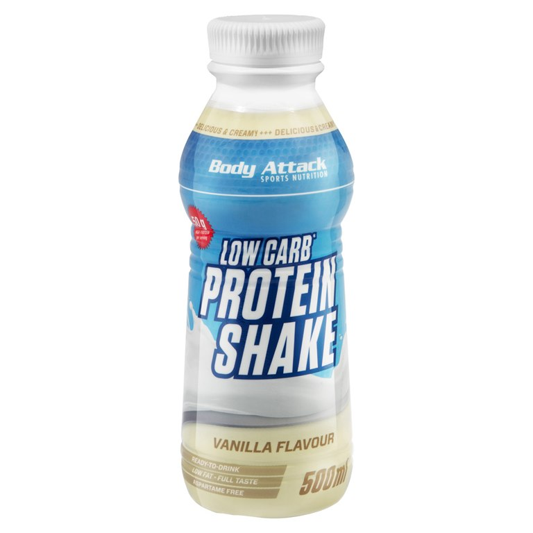 Body Attack Low Carb Protein Shake, 500ml
