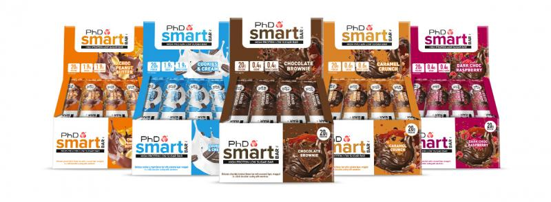 PhD Smart Bar, 64g Salted Fudge Brownie