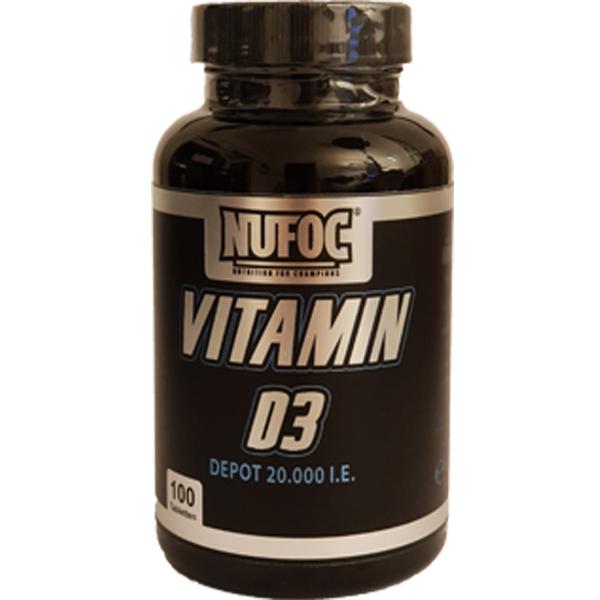 Nufoc Vitamin D3, 100 Tabl.