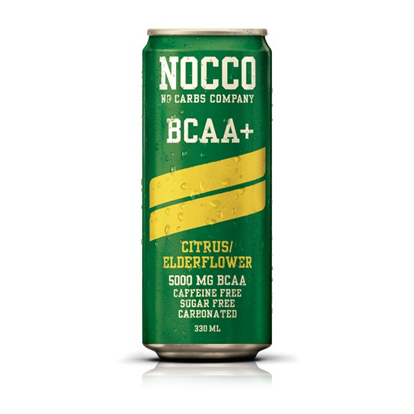 No Carbs Company Nocco BCAA, 330ml Citrus/Elderflower ( Caffein Free )