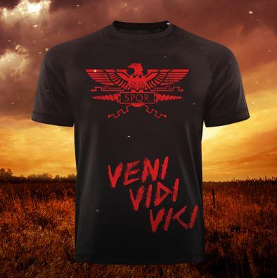 Gods Rage T-Shirt SPQR Veni Vidi Vivi, Schwarz