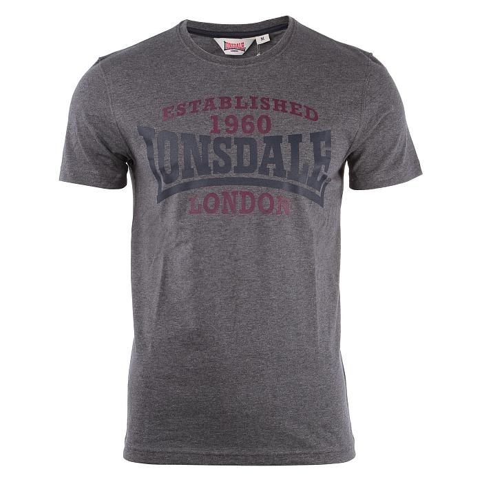 Lonsdale T-Shirt Andoversford, Marl Ash