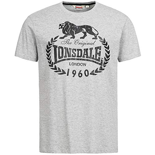 Lonsdale Fit T-Shirt Bracknell, Marl Grey