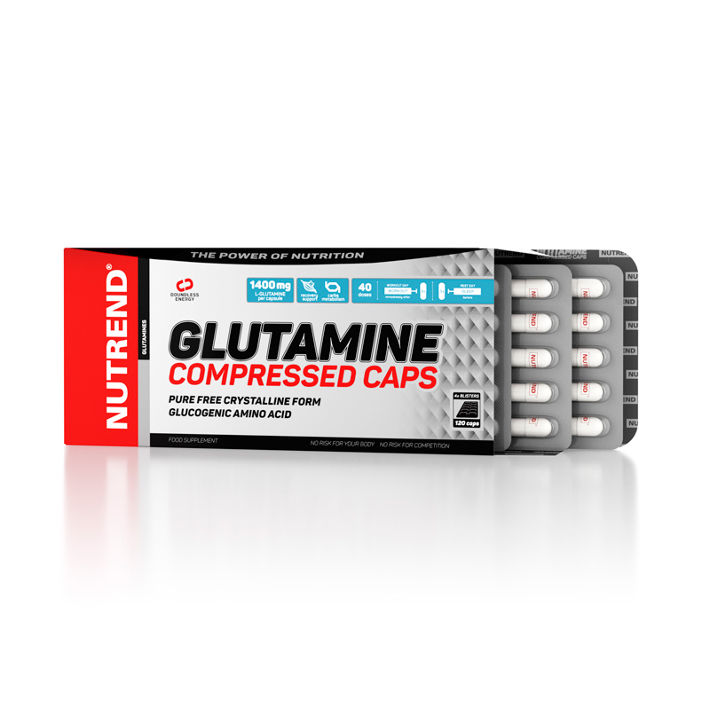 Nutrend Glutamine Compressed Caps, 120 Kaps.