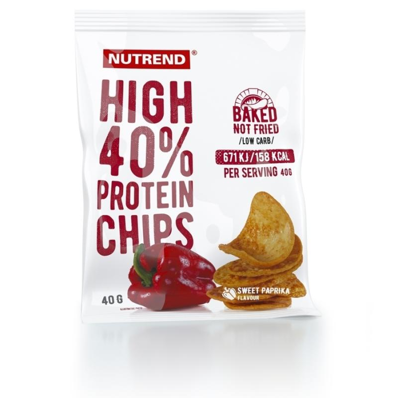 Nutrend High Protein Chips, 40g Paprika