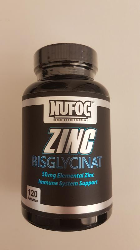 Nufoc Zinc Bisglycinat 50mg, 120 Tabl.