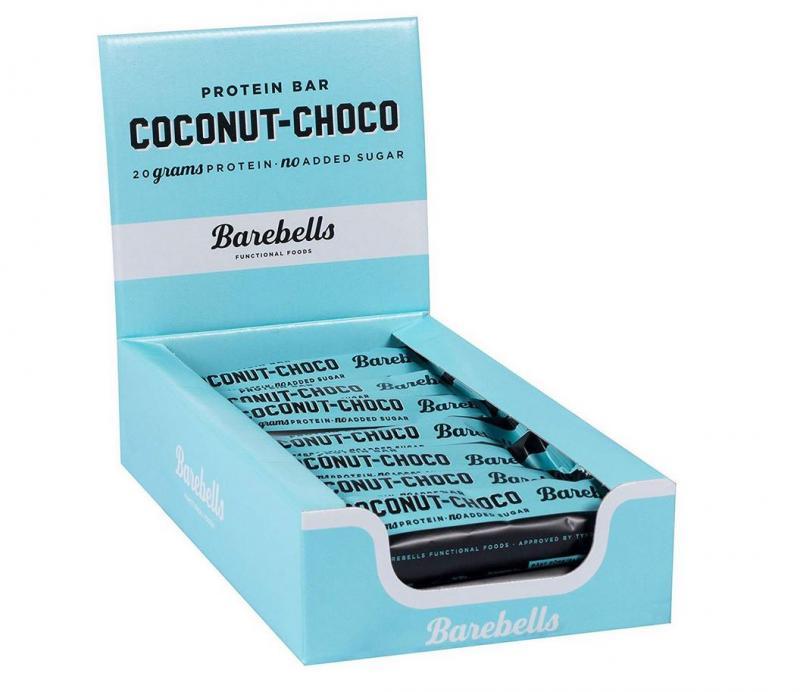 Barebells Protein Bar, 12x55g im Karton Coconut Choco (MHD: 23.03.2021)