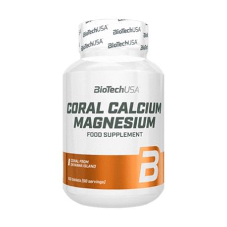 BioTech USA Coral Calcium Magnesium, 100 Tabl.