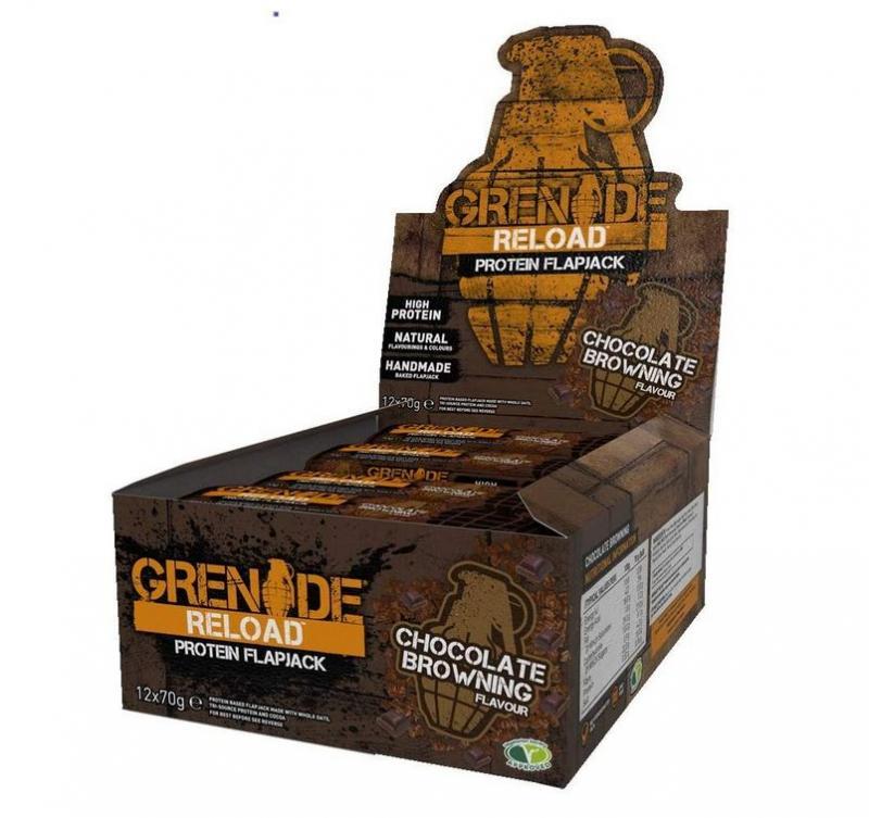 Grenade Reload Protein Flapjack, 12x70g im Karton