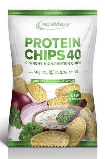 IronMaxx Protein Chips, 50g Sour Cream & Onion