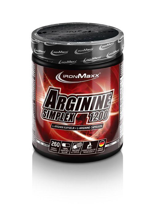 IronMaxx Arginin Simplex 1200, 260 Kaps. (Restpostenware MHD:04/21)