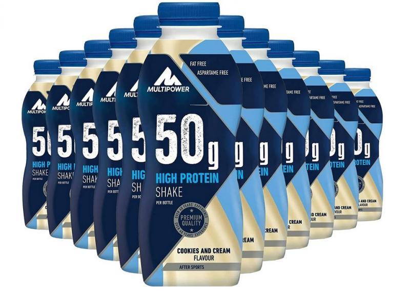 Multipower 50g Protein Shake, 12x500ml im Tray