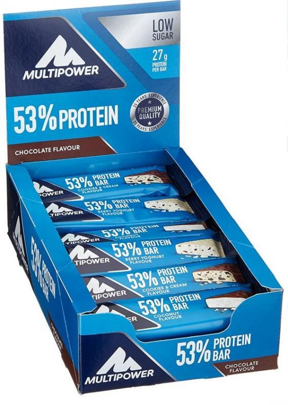 Multipower 53% Protein Bar, 24x50g im Karton (MHD Ware)
