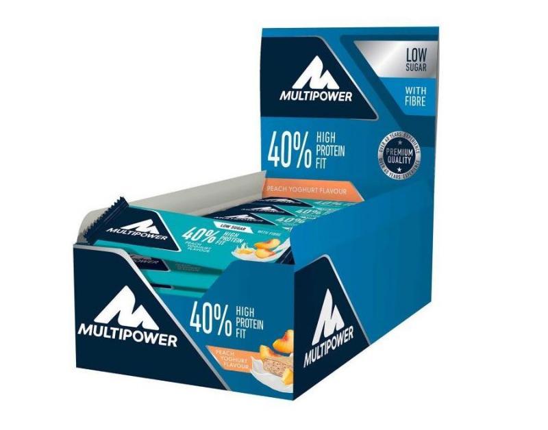 Multipower 40% Protein Fit Bar, 24x35g im Karton Peach Yoghurt (MHD: 10/2020)