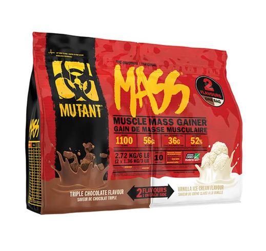 Mutant Mass Dual Chamber Bag, 2720g Triple Chocolate & Vanilla Ice
