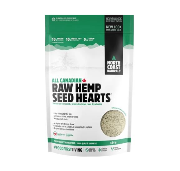 North Coast Naturals Raw Hemp Seed Hearts, 454g