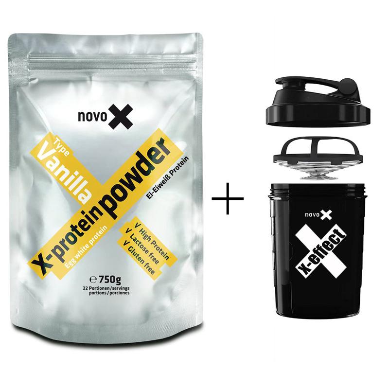 Egg X-Protein Powder 750g + Spider Bottle Shaker 600ml