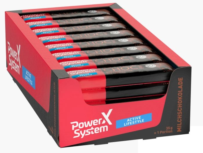 Power System Whey Choc Bar, 24x35g im Karton