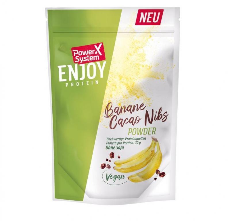 Power System Enjoy Vegan Protein, 360g Banane Cacao Nibs (MHD: 07/2021)