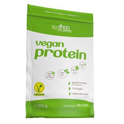 Vegifeel Vegan Protein, 500g - Neutral (MHD: 31/10/20)