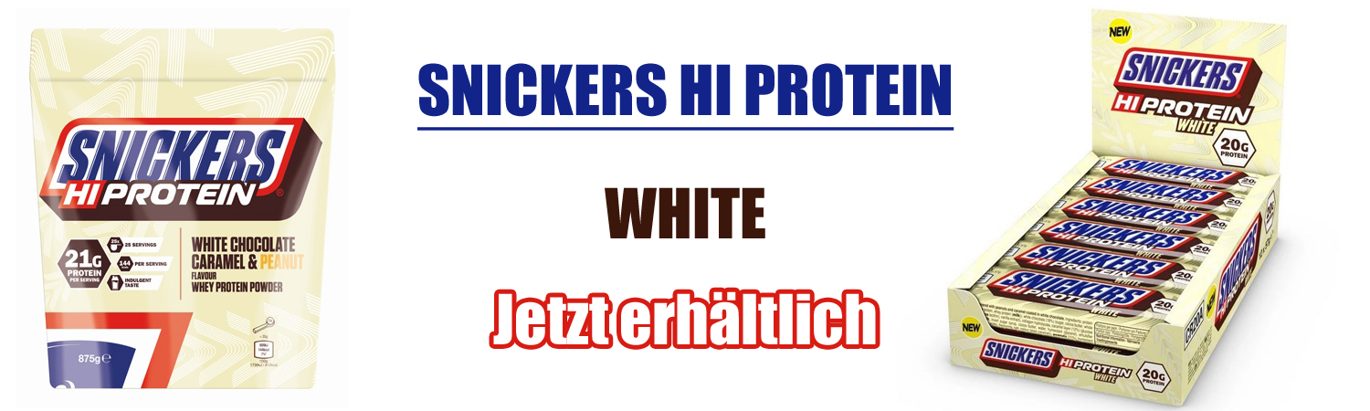 Snickers Hi Protein Powder 875g White Chocolate
